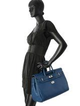Top Handle Vesuvio Leather Mac douglas Blue vesuvio PYLVES-S-vue-porte