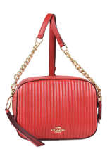 Quilted Leather Camera Bag Coach Red camera bag 31014