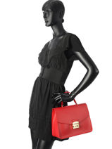 Top Handle Metropolis Leather Furla Red metropolis EPO-BOO9-vue-porte