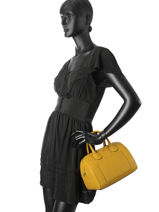 Small Tote Bag Alba Leather Furla Yellow alba FAB-BTE3-vue-porte
