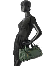 Sac Shopping Rebelle  Gd Cuir Gerard darel Vert gd DFS03410-vue-porte