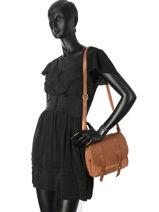Sac Bandouliere Bess Cuir Mila louise Marron vintage 3017VGH-vue-porte