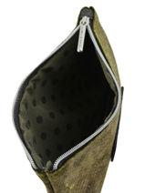 Trousse Python Mila louise Vert velours 16962RE-vue-porte