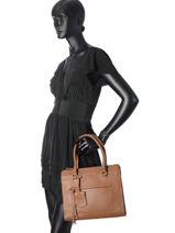 Small Tote Bag Silvie Star Leather Burkely Brown silvie star 538236-vue-porte