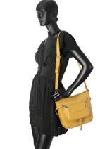 Shoulder Bag Soft Vintage Nova Leather Lancaster Yellow soft vintage nova 5761-vue-porte