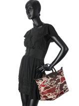 Longchamp Le pliage galop Handbag Red-vue-porte