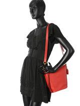 Crossbody Bag Duffle Leather Coach Red duffle 29259-vue-porte
