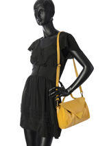 Crossbody Bag Katinka Leather Pieces Yellow katinka 17092577-vue-porte