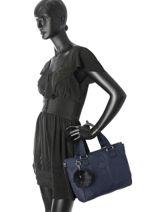 Sac Shopping Basic + Kipling Bleu basic + 16616-vue-porte