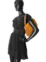 Shoulder Bag Romy Leather Mac douglas Brown romy GIEROM-M-vue-porte