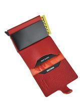 Card Holder Leather Secrid Red original MST-vue-porte