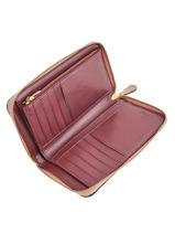Portefeuille Cuir Coach Blanc wallet 38868-vue-porte