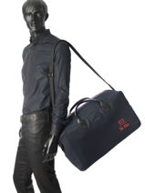 Longchamp 271 st ho toile Travel bag Blue-vue-porte