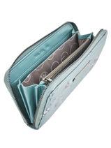 Wallet Lulu castagnette Blue new flower CHRYSA22-vue-porte
