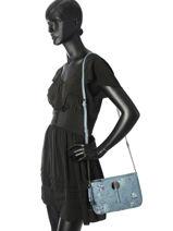 Shoulder Bag New Flower Lulu castagnette Blue new flower JOURDAIN-vue-porte
