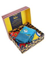 Gift Box Socks The Beatles 3 Pairs Happy socks Orange pack XBEA08