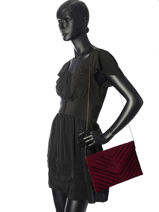 Quilted Clutch Miniprix Red cocktail 99302-vue-porte