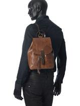 Backpack Chiarugi Brown street 53282-vue-porte