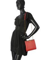 Sac Bandoulière Vintage Cuir Nat et nin Rouge vintage DALIA-vue-porte