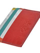 Porte-cartes Cuir Francinel Rouge cook 59902-vue-porte