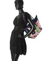 Longchamp Le pliage illustration Sacs porté main Noir-vue-porte