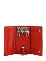 Key Holder Leather Hexagona Red toucher 627076-vue-porte