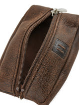 Purse Leather Hexagona Brown instinct 667297-vue-porte