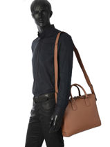 Jack Slim Briefcase Lancel Brown jack A08688-vue-porte