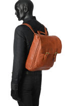 Backpack Basilic pepper Brown urban BURB07-vue-porte
