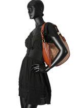 Shoulder Bag Sutton Leather Coach Brown sutton 38580-vue-porte
