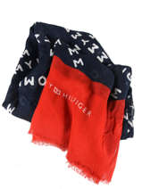 Scarf Tommy hilfiger Black iconic tommy AW05901