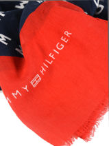 Scarf Tommy hilfiger Black iconic tommy AW05901-vue-porte