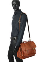Briefcase Basilic pepper Brown urban BURB04-vue-porte