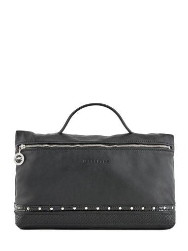 Longchamp Le pliage cuir rock Pochettes Noir
