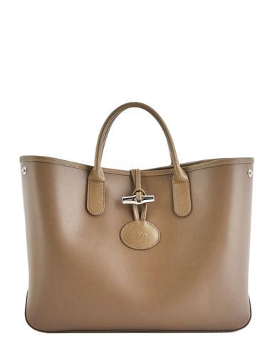 Longchamp Roseau Sacs porté main Marron