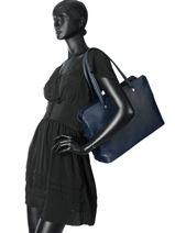 Longchamp Le foulonné Besaces Bleu-vue-porte