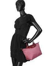 Longchamp Le pliage dandy Sacs porté main Rose-vue-porte