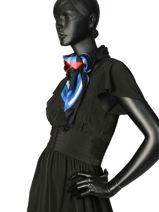 Silk Scarf Sonia Rykiel Sonia rykiel Black tartan 4711-59-vue-porte