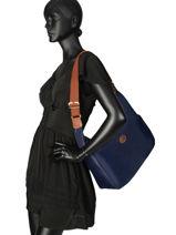 Longchamp Le pliage Messenger bag Blue-vue-porte