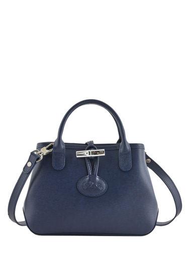 Longchamp Roseau Sacs porté travers Bleu