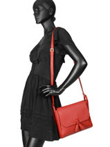 Longchamp Pénélope Messenger bag Red-vue-porte
