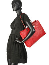 Sac Shopping Sweet Candy Guess Rouge sweet candy VG717524-vue-porte