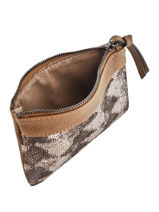 Purse Miniprix Brown sequin F142-vue-porte