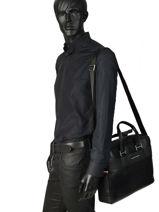 Briefcase Tommy hilfiger Black business AM04259-vue-porte