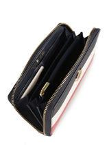Wallet Tommy hilfiger Black effortless saffiano AW06152-vue-porte