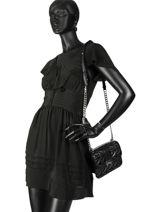 Shoulder Bag Kuilted Studs Leather Karl lagerfeld Black kuilted studs 91KW3048-vue-porte