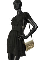 Shoulder Bag Signature Raffia Karl lagerfeld Gold signature raffia 91KW3068-vue-porte