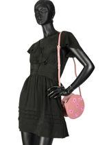 Shoulder Bag Vendome Leather Lancaster Pink vendome 432-15-vue-porte
