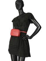 Sac Banane Lancaster Rouge parisienne couture 571-67-vue-porte