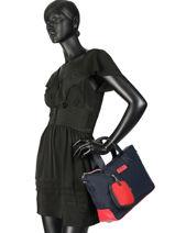 Varsity Nylon Tote Bag Tommy hilfiger Black varsity nylon AW06123-vue-porte
